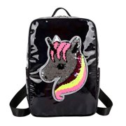 AkoaDa Unicorn Gift Sequin Unicorn Backpack Holographic Mini Backpack Sparkly Sparkly Shoulder Bag for Girls Kids Teens Women