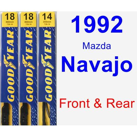 - 1992 Mazda Navajo Wiper Blade Set/Kit (Front & Rear) (3 Blades) - Premium
