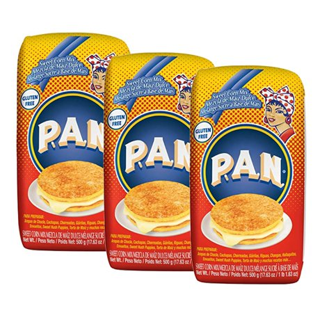 P.A.N. Precooked Sweet Corn Meal 17.6 oz (Pack of