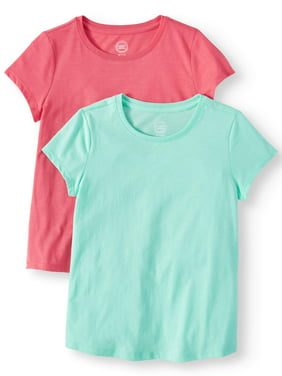 6b586a0eb Product Image Crew Neck T-Shirts 2-Pack (Little Girls, Big Girls, &