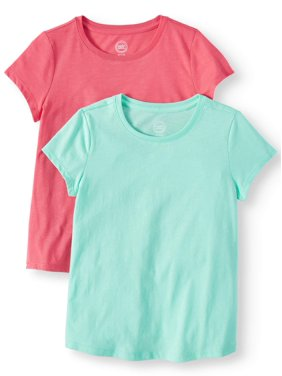 57064e30 Product Image Crew Neck T-Shirts 2-Pack (Little Girls, Big Girls, &