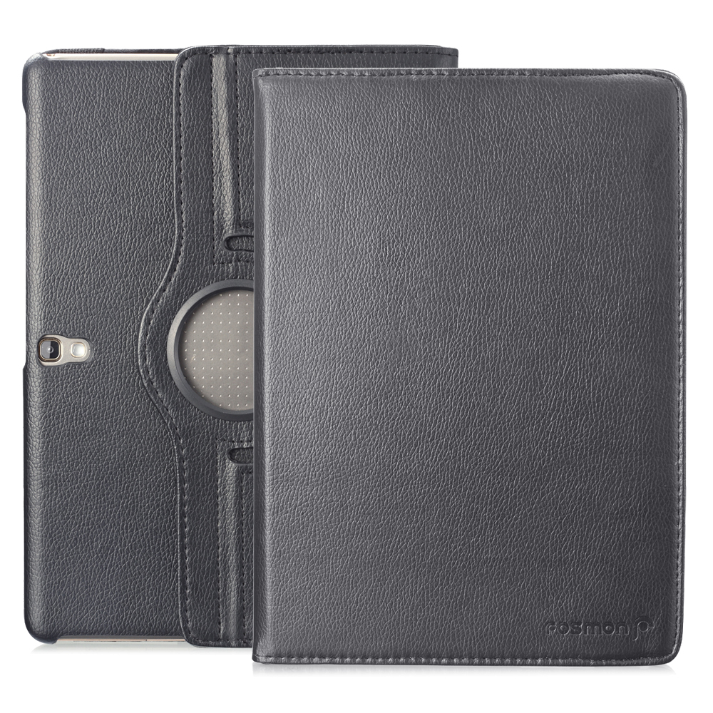 """Fosmon Samsung Galaxy Tab S 10.5"""" Tablet Case - Revolving Leather Case with Stand for Samsung Galaxy Tab S 10.5 - Black"""