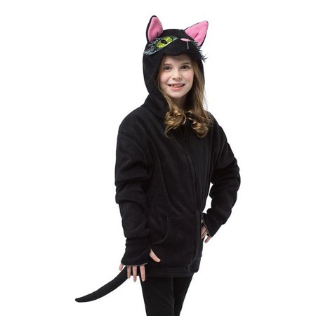 Black Cat Hoodie Costume - Black Cat Kigurumi