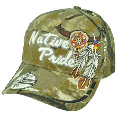 Native American Pride Camouflage Camo Skull Feather Indian Hat Cap Curved  Bill - Walmart.com 8464cd07369