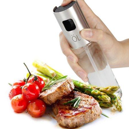 Olive Oil Sprayer 100ml(3.5oz), Stainless Steel Tool Kitchen Cooking Spray Pump Bottle Gadget for Cooking, Salad, BBQ, Bread Baking, Kitchen Accessories