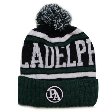 City Hunter USA Patch Style Men s Winter Hats (Philadelphia Green Black  Patch) 406e42b30c0