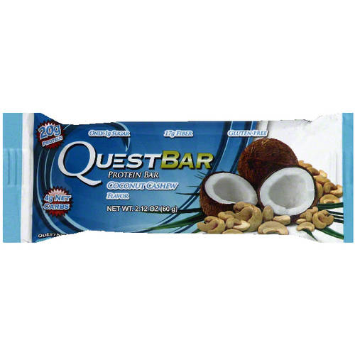 Quest Bar Coconut Cashew Protein Bar, 2.12 oz, (Pack of 12)