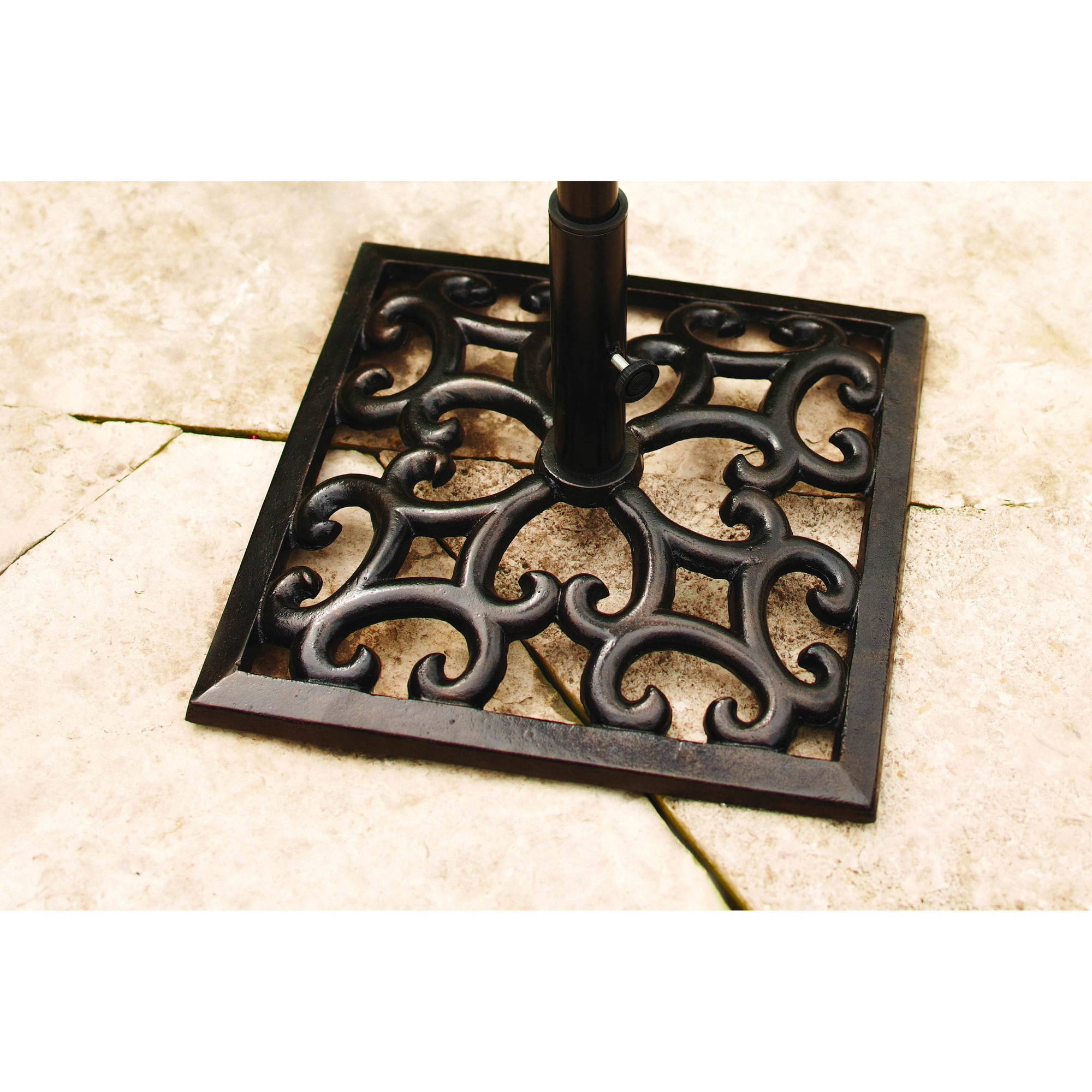 Better Homes and Gardens Englewood Heights Cast Iron Umbrella Base