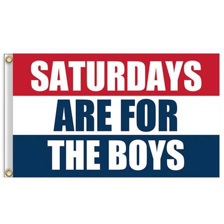 Boy Flag Banner (NEW Saturdays Are For The Boys Flag 3x5ft Banner Red White Blue )