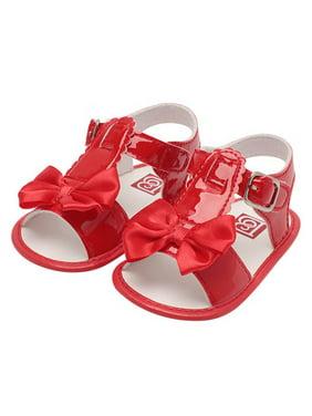 Product Image Babula Baby Girl Bowknot Solid Sandals Summer Princess Shoes  0-18M 03af301f2bc7