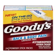 Goody's Back & Body Caffeine Free Pain Relief Powders, 24 Count