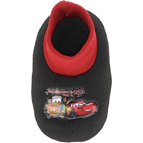 Disney Toddler Boys' Cars Sock Top Slippers
