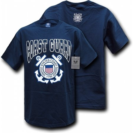 S25-CST-NVY-03 Classic Military T-Shirt, Coast Guard, Navy, Large