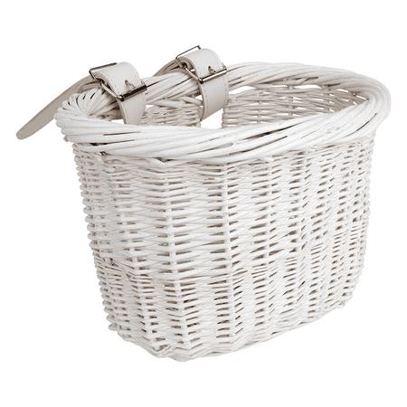 Sunlite Wooden Willow Mini White Bicycle Handlebar Basket Cruiser Kids Bike