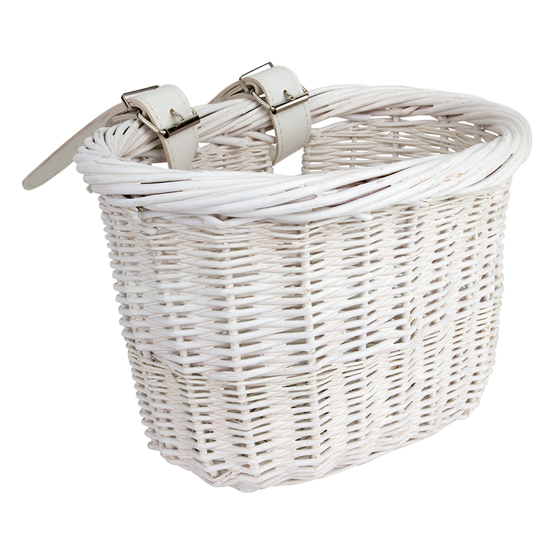 Sunlite Wooden Willow Mini White Bicycle Handlebar Basket Cruiser Kids Bike