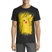 Pokemon Men's and Big Men's Brushstroke Pikachu Graphic T-Shirt
