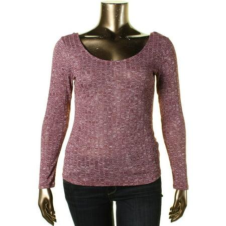 - Ultraflirt Womens Juniors Knit Space Dye Ballet Top