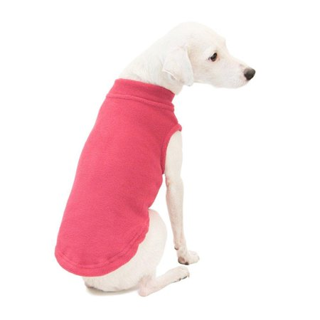 gooby stretch fleece pull over cold weather dog vest, pink, (Best Cold Weather Vest)