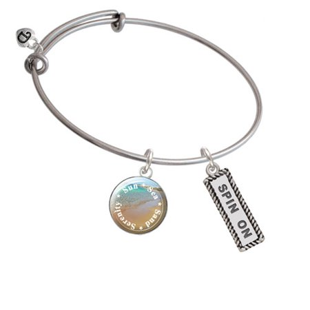 Spin On Sun Sea Sand Serenity Bangle Bracelet
