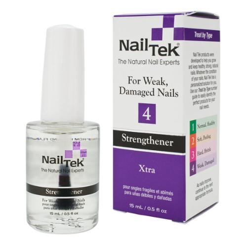 Nail Tek .5oz Xtra 4 Strengthener for Weak Damaged Nails, CLEAR, 55811