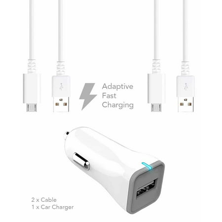 Htc Velocity 4G Vodafone Charger  Micro Usb 2 0 Cable Kit By Ixir  Car Charger   Cable  True Digital Adaptive Fast Charging Uses Dual Voltages For Up To 50  Faster Charging