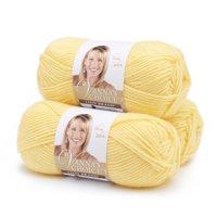 Lion Brand Yarn Vanna's Choice Lemon Basic Medium Acrylic Yellow Yarn 3 Pack
