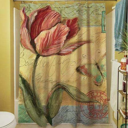 August Grove Loretta Tulip Shower Curtain