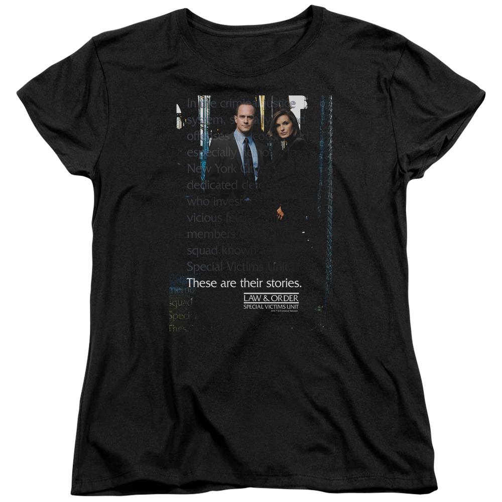 Law & Order SVU SVU Womens Short Sleeve Shirt