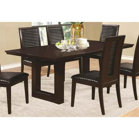 rectangle dining table with pedestal base. Black Bedroom Furniture Sets. Home Design Ideas