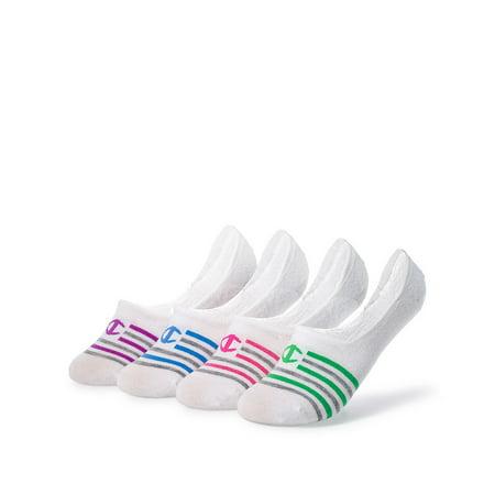 Champion Women's Performance Liner Stripe Socks 4-Pack
