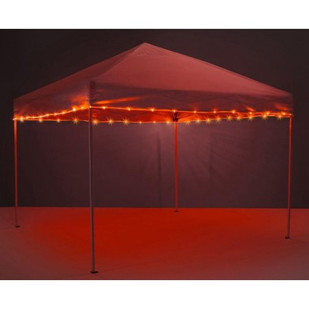 Canopy Brightz LED Tailgate Canopy & Patio Umbrella Accessory, Red