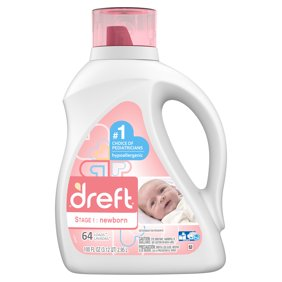 Dreft Stage 1 Newborn Liquid Laundry Detergent 64 Loads 100 Fl Oz