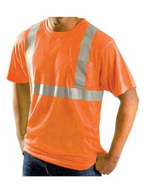 Rugged Blue Class 2 High-Vis Wicking Shirt High Vis Orange S