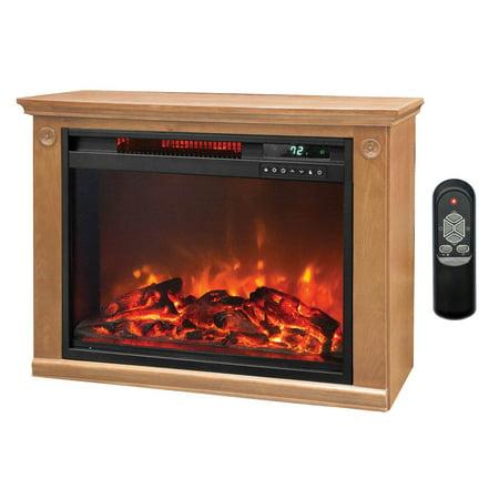 LifeSmart 1500 Watt Large Infrared Quartz Electric Portable Fireplace Heater ()