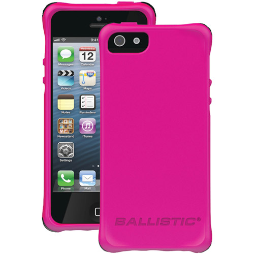 BALLISTIC LS0955-M695 iPhone(R) 5/5s LS Smooth Case (Hot Pink with 4 Black 4 White 4 Purple 4 Hot Pink Bumpers)