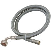 EZ-FLO 41042 Braided Dishwasher Connector Hose, 3/4 in Inlet, 3/8 in Outlet, Stainless Steel