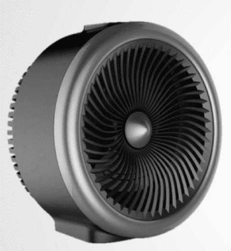 Mainstays 2 in 1 Portable Heater Fan, 900-1500W, Indoor, Black, NF15-18U