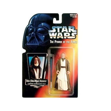 Star Wars: Power of the Force Red Card Ben (Obi-Wan) Kenobi with Short Lightsaber Action Figure - Bubble Wand Lightsaber