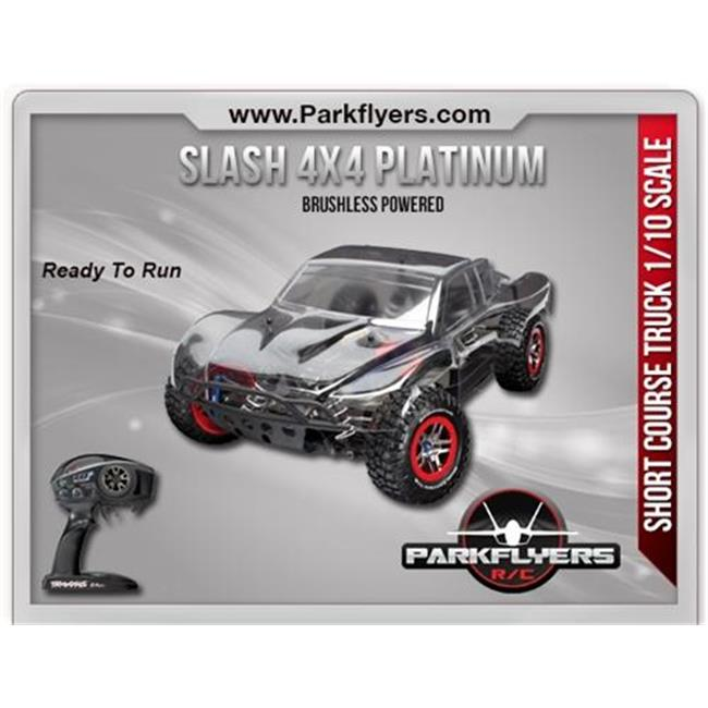ParkFlyers 6804R Traxxas 1-10 Slash 4x4 Platinum Brushles...