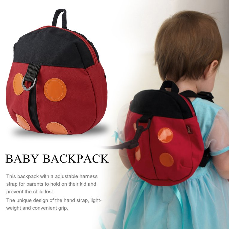 Toddler Backpack Anti-lost Kids Baby Children School Bag Cute Backpack Ladybird Shape Walking Safety Harness Strap... by YKS