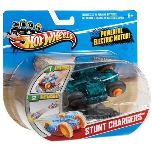Hot Wheels RC Stunt Chargers Car, Green