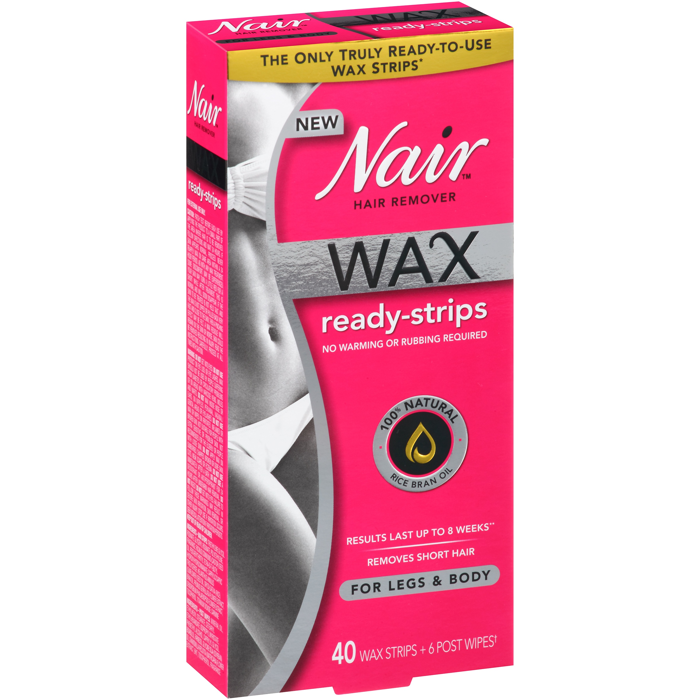 Nair™ Wax Ready-Strips Hair Remover for Legs & Body 40 ct Box