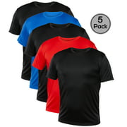 Blank Activewear Pack of 5 Men's T-Shirt, Quick Dry Performance fabric