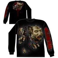 The Walking Dead Walkers Ripped Zombie Long Sleeve Shirt