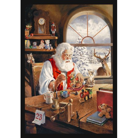 Milliken Seasonal Inspirations Area Rugs - Novelty 02001 Workshop Santas Workshop Christmas Gifts Rug