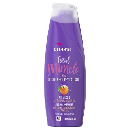 Aussie Paraben-Free Total Miracle Conditioner w/ Apricot For Hair Damage, 12.1 fl