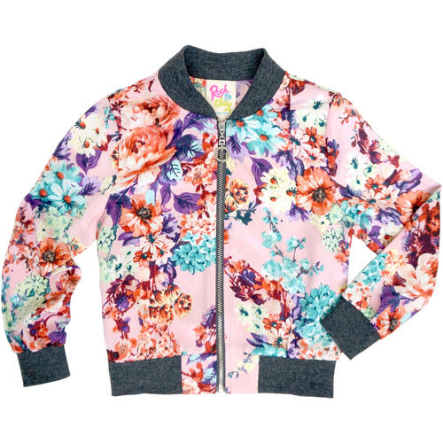 GBYM Girls' Printed Bomber Jacket