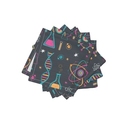 Stemmed Cocktail (Cocktail Napkins Science Scientist Atomic Chemistry Stem Teacher Set of 4)