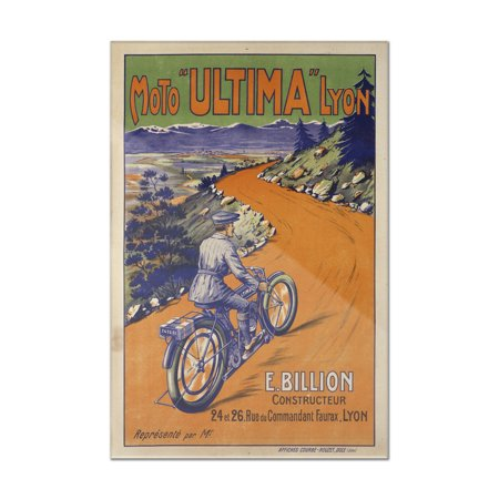 Moto Ultima Vintage Poster France  8X12 Acrylic Wall Art Gallery Quality