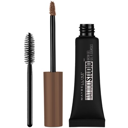 Maybelline TattooStudio Waterproof Eyebrow Gel Makeup, Warm Brown
